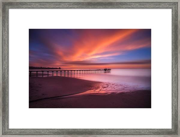 Scripps Pier Sunset Framed Print