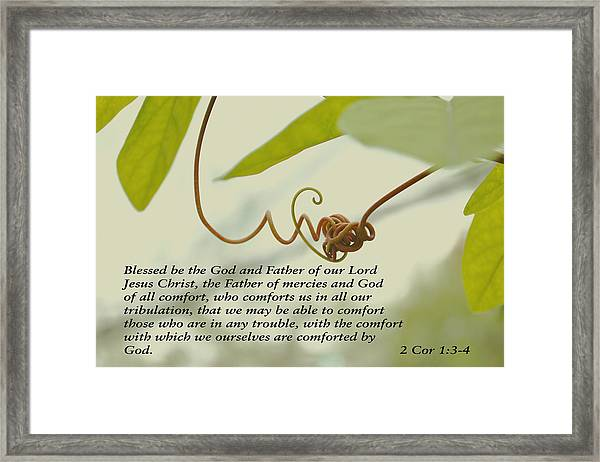 Scriptures Of Comfort 1 Framed Print