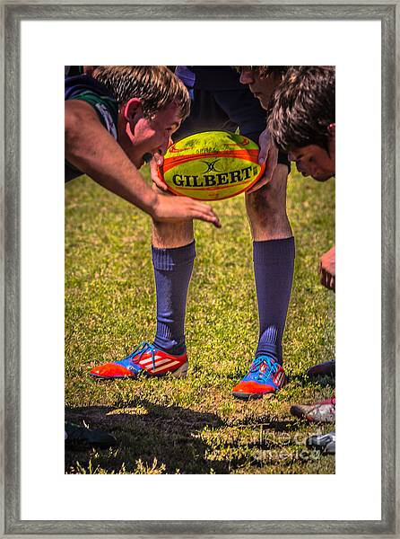 Scrum Framed Print