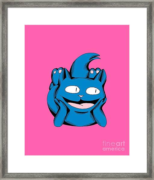 Scuba Smiling In Toy Colors Framed Print