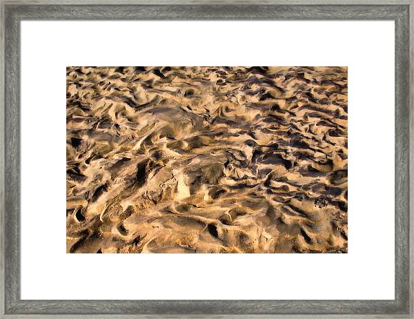 Sculpture By The Tide Framed Print