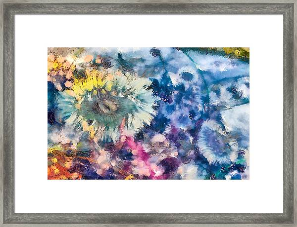 Framed Print featuring the mixed media Sea Anemone Garden by Priya Ghose