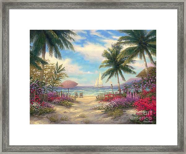 Sea Breeze Path Framed Print