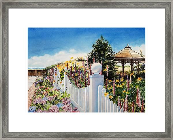Sea Garden Walk Framed Print