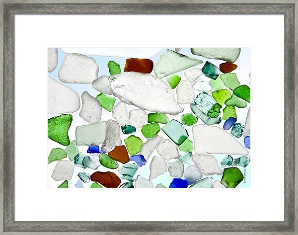 Sea Glass Framed Print