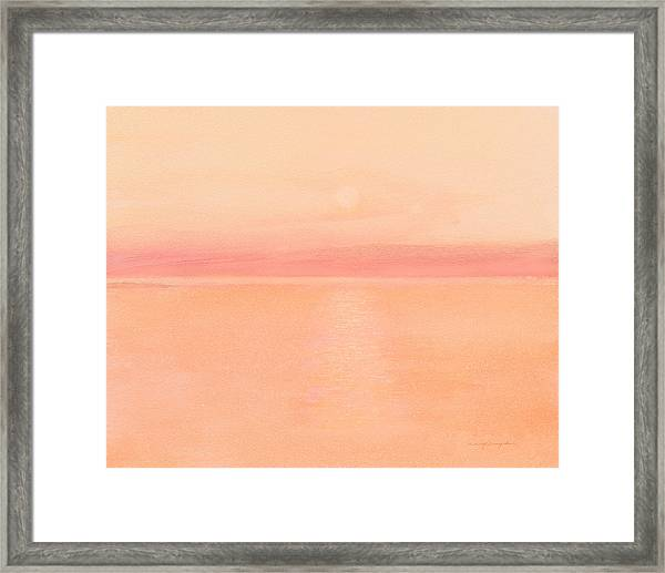 Sea Horizon Framed Print