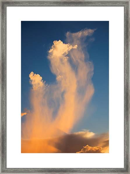Sea Horse Clouds Framed Print