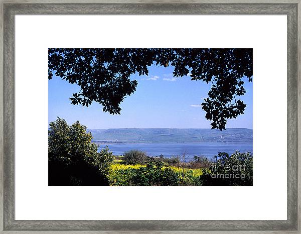 Sea Of Galilee From Mount Of The Beatitudes Framed Print
