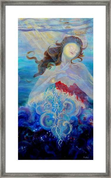 Sea Of The Soul Figure Detail Framed Print