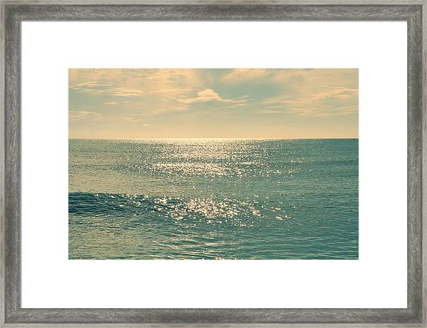 Sea Of Tranquility Framed Print