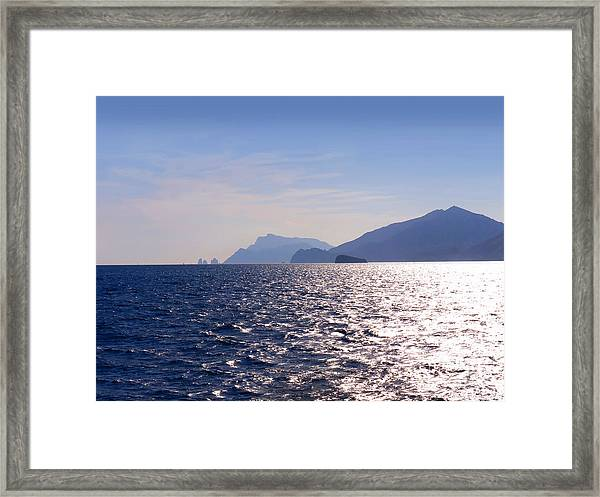 Sea Off The Amalfi Coast Framed Print