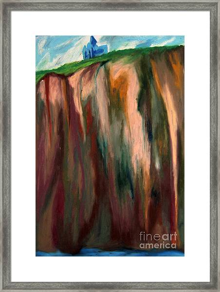Sea Side Mountain Cliff Framed Print