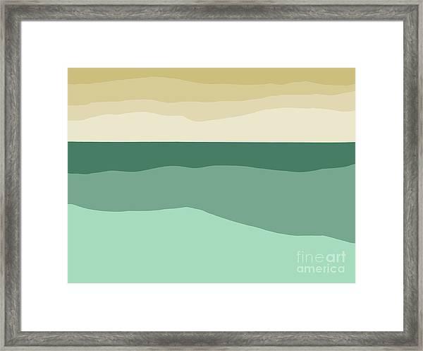 Sea Slab Waves 2 Framed Print