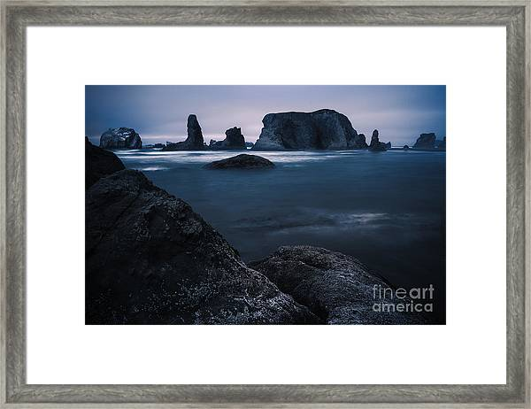 Sea Stack Galloree Framed Print