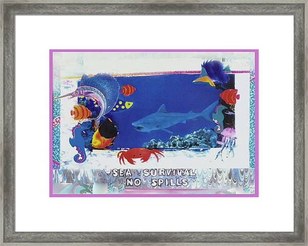 Sea Survival No Spills Framed Print