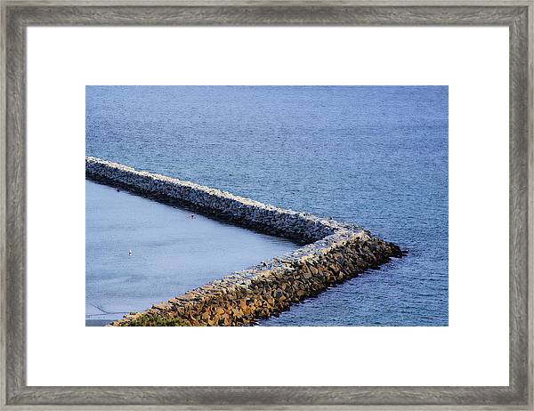 Sea Wall Framed Print