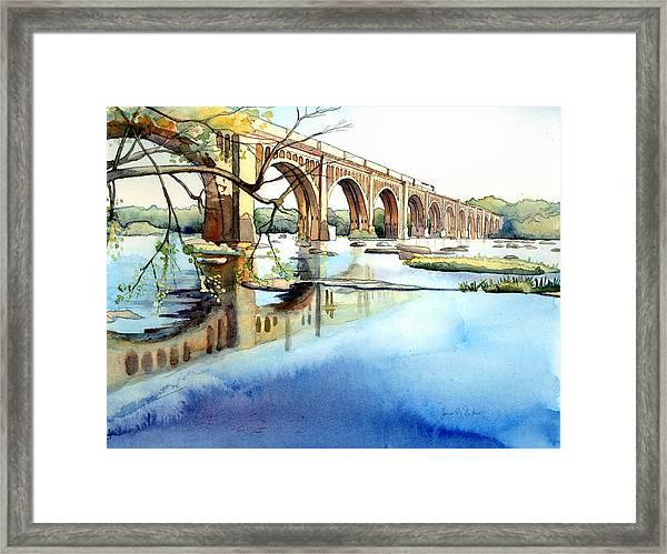 Seaboard Bridge Crossing The James  Framed Print