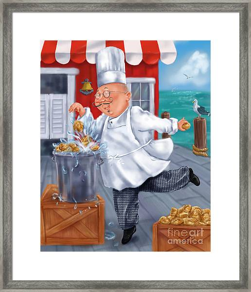 Seafood Chefs-fresh Clams Framed Print