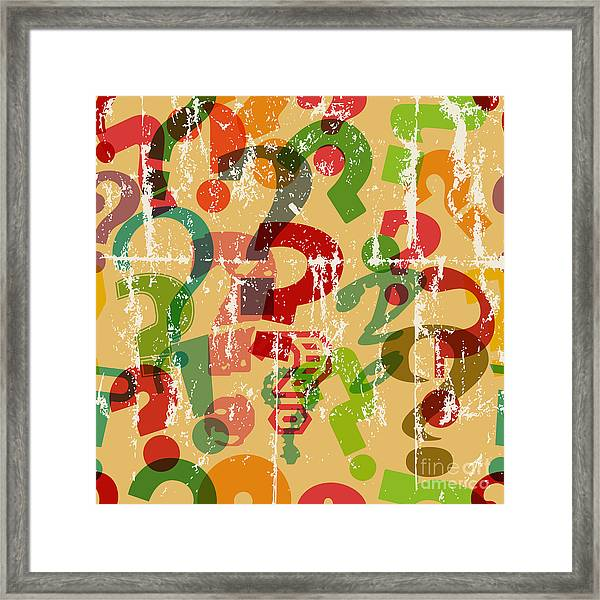 Seamless Background Pattern With Framed Print by Thomas Bethge