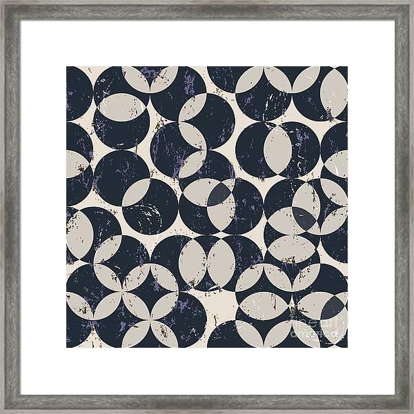 Seamless Pattern Background, Halftone Framed Print
