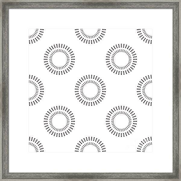 Seamless Pattern With Circles. Vector Framed Print