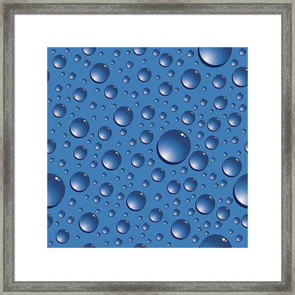 Seamless Water Drops Framed Print by Jobalou