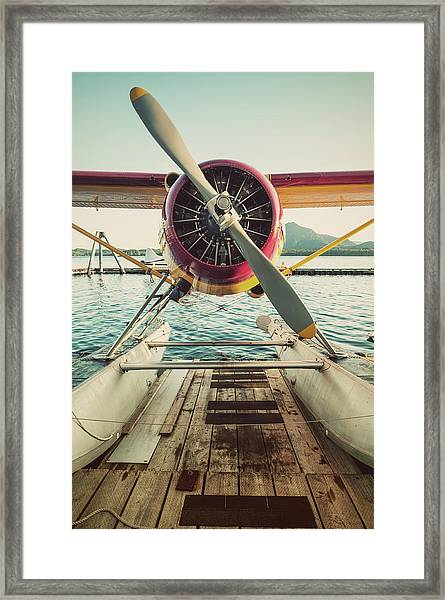 Seaplane Dock Framed Print