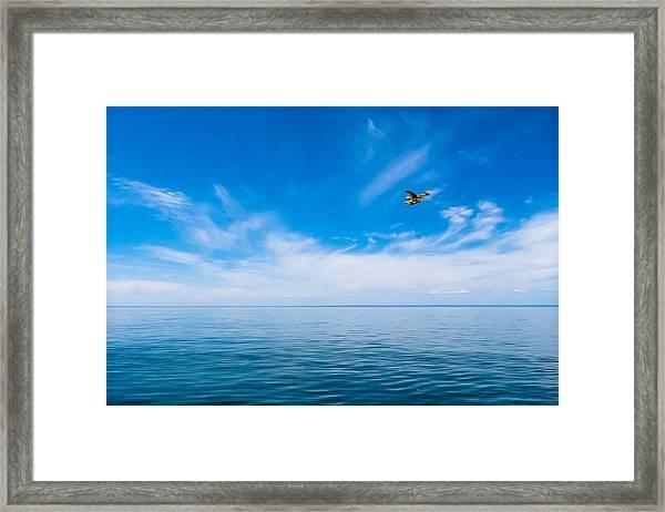 Seaplane Over Lake Superior   Framed Print
