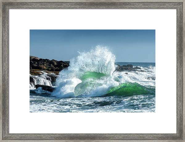 Seascape 3 Framed Print by David Rothstein