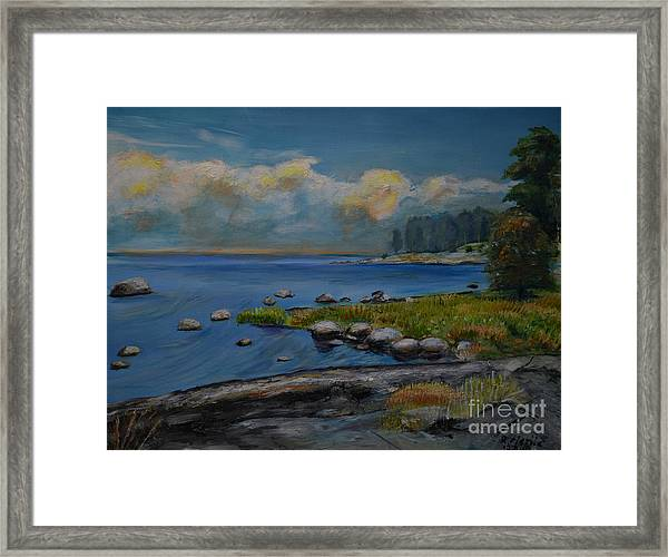 Seascape From Hamina 2 Framed Print