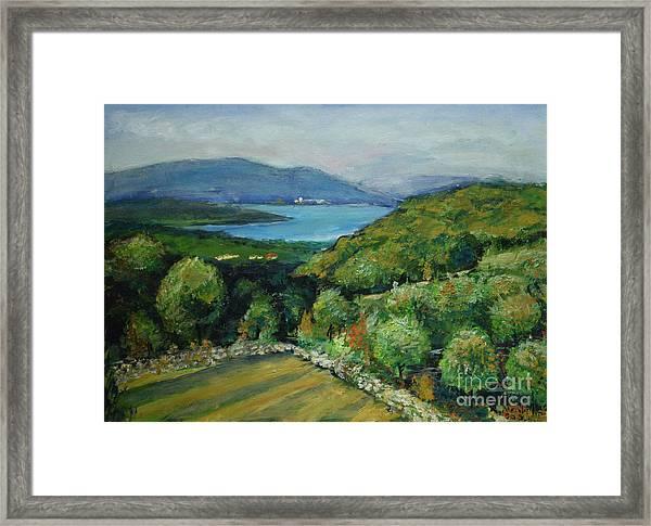 Seascape From Kavran Framed Print