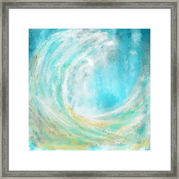 Seascapes Abstract Art - Mesmerized Framed Print