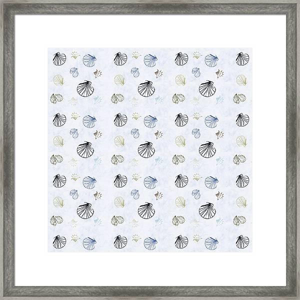 Seashell Pattern Framed Print