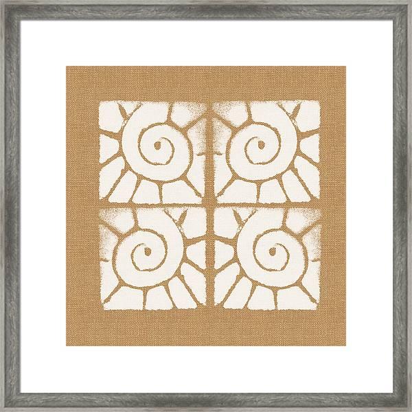 Seashell Tiles Framed Print