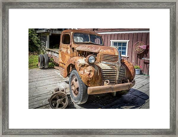 Seaside Dodge Framed Print by Robert Yone