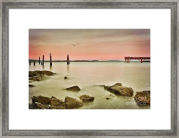 Seaside Pier  Framed Print