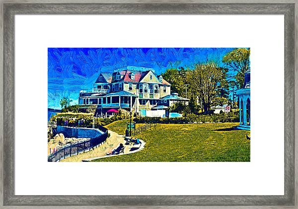 Seaside Resort Framed Print