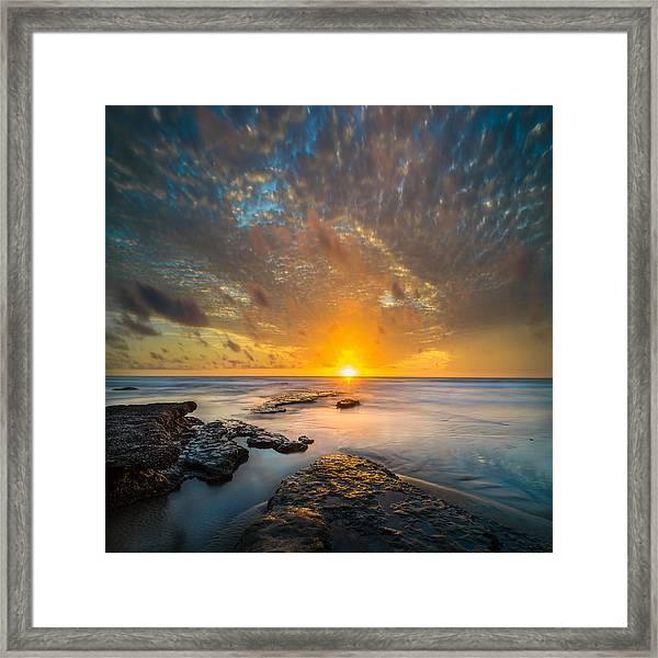 Seaside Sunset - Square Framed Print