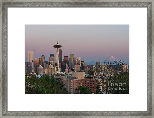 Seattle Sunset Framed Print