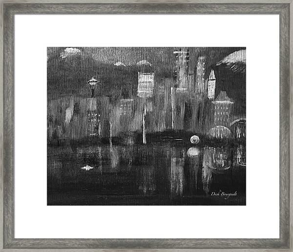 Seattle Black And White Framed Print