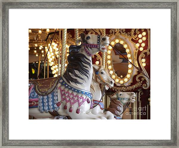 Seattle Carousel Framed Print