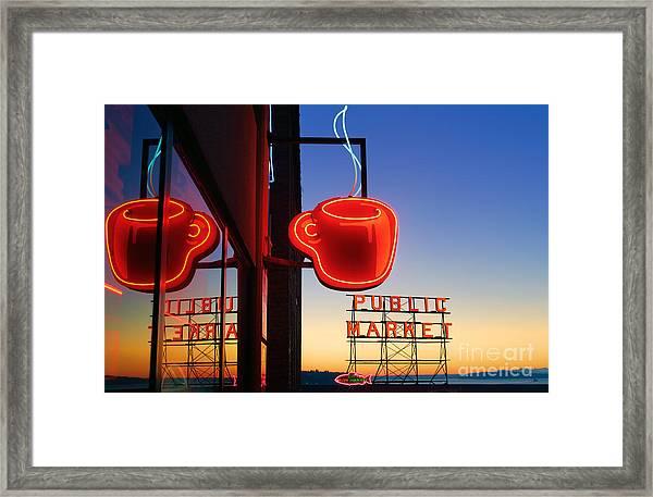 Seattle Coffee Framed Print