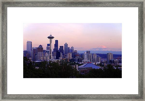 Seattle Dawning Framed Print