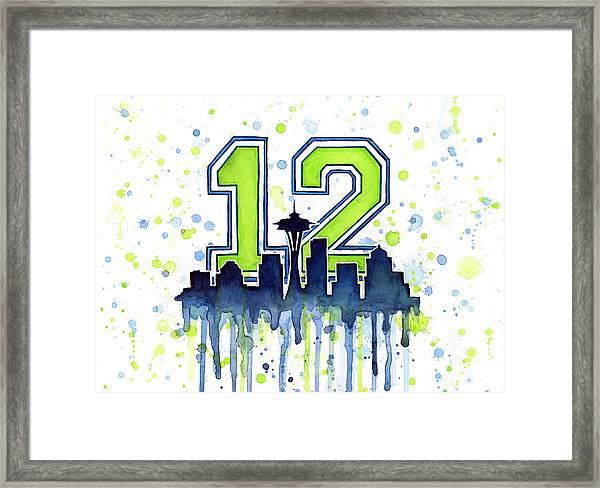 Seattle Seahawks 12th Man Art Framed Print