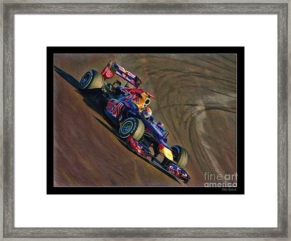 Sebastian Vettel - Red Bull Framed Print