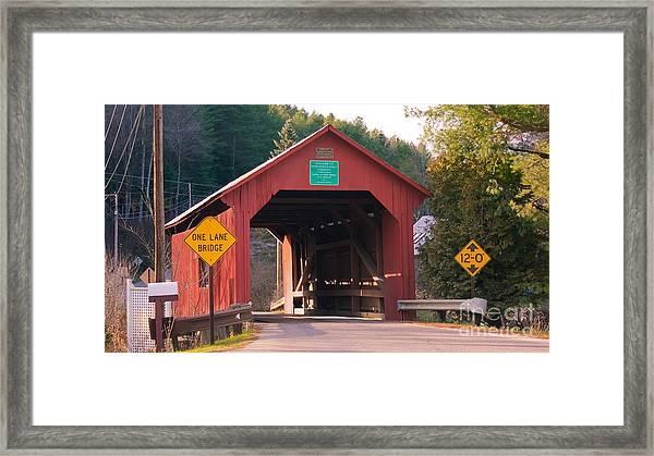 Second Covered Bridge. Framed Print