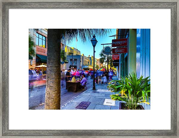 Second Sunday On King St. Charleston Sc Framed Print