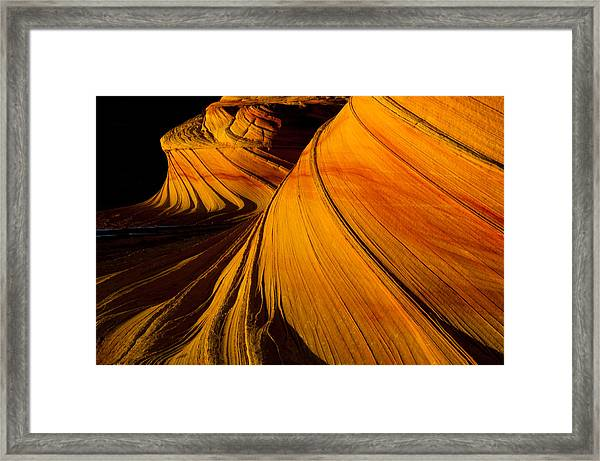 Second Wave Framed Print