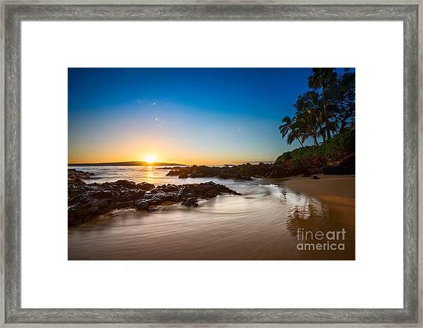 Secret Beach Sunset Framed Print