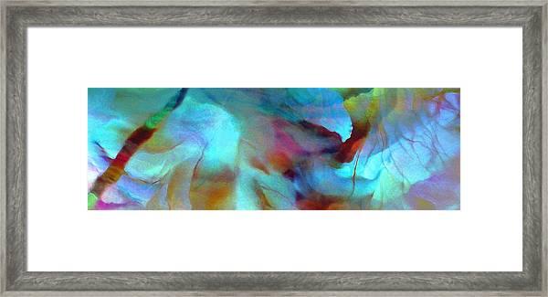Secret Garden - Abstract Art Framed Print